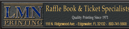 LMN Printing, Raffle book and ticket Specialists in Daytona